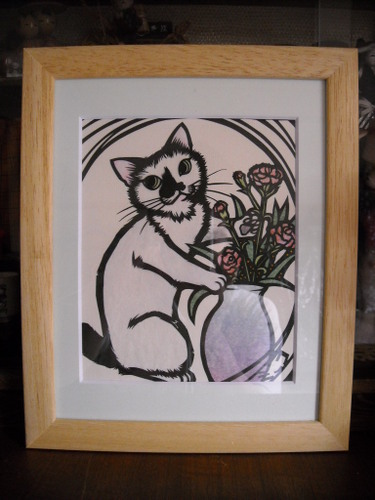 以前飼っていたミーコのcut artです。
